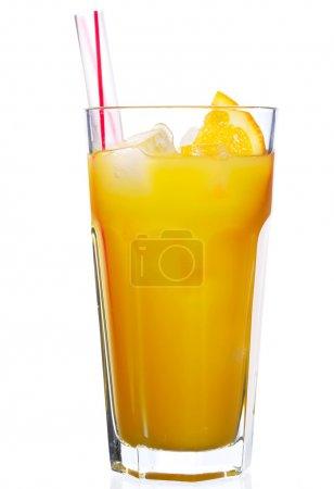 Photo for Glass of orange juice isolated on white - Royalty Free Image