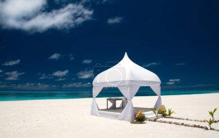 Wedding pavilion at the beach