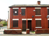 Boarded up British Northern Houses