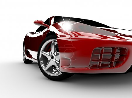 Photo for A modern and elegant red car illuminated - Royalty Free Image