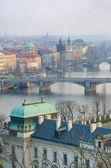 Prague Bridges and Vltava river breathtaking view