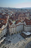 Old town square, aerial view, Prague
