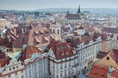 Prague roofs