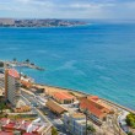The beach line in Alicante, Spain...