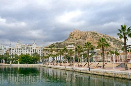 View to the Santa Barbara Fortress, Alicante, Spai...