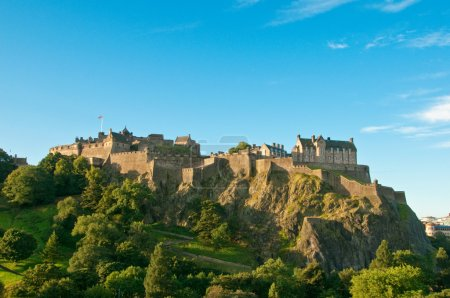 Photo for Edinburgh castle on a clear sunny day, Scotland, UK - Royalty Free Image