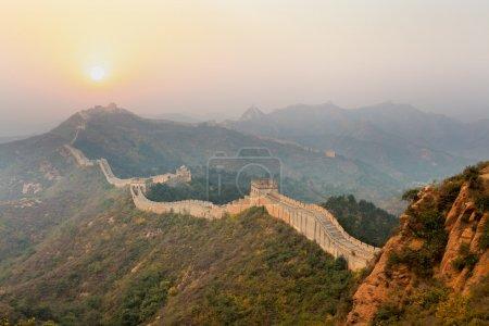 The great wall winding in ridge