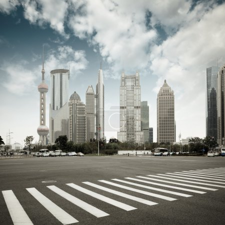 Photo for The scene of the century avenue in shanghai,China. - Royalty Free Image