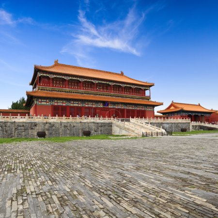 Beijing forbidden city building