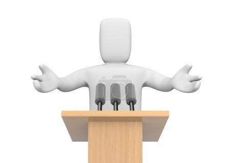Photo pour 3D personne parlant - image libre de droit