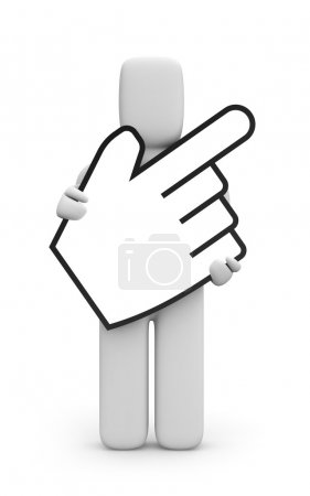 Person with hand cursor