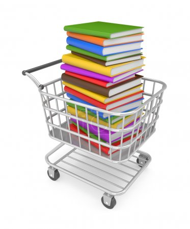 Shopping cart with book