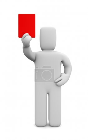 Person showing a red card