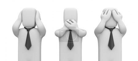 Photo pour Concept d'affaires. isolé sur blanc - image libre de droit
