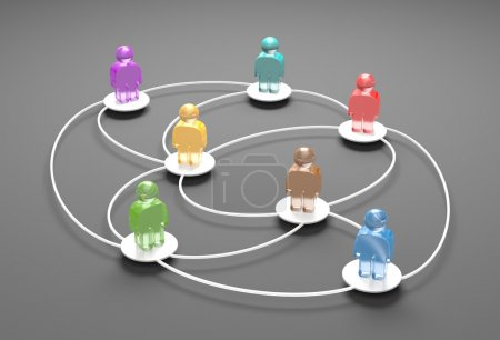 Foto de Concepto de comunicación. aislado en blanco - Imagen libre de derechos
