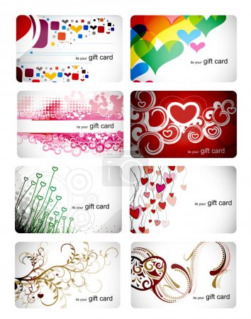 Set of beautiful gift card