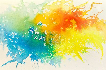 Photo for Abstract hand drawn watercolor background, raster illustration - Royalty Free Image