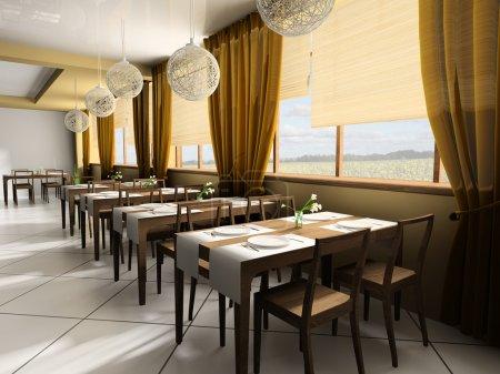 Photo pour Café moderne en defes 3d (rendu  ) - image libre de droit