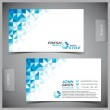 Vector abstract creative business cards (set templ...