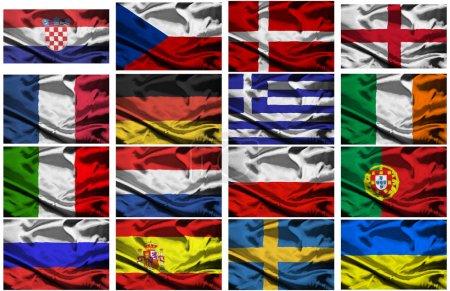 Euro 2012 european championship fabric flags