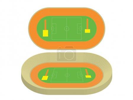 Model of stadium