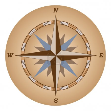 Illustration for Retro compass: wind of rose vector illustration - Royalty Free Image
