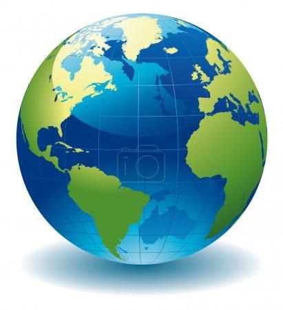 Illustration pour Globe terrestre-illustration vectorielle modifiable - image libre de droit