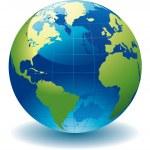 World globe - editable vector illustration...