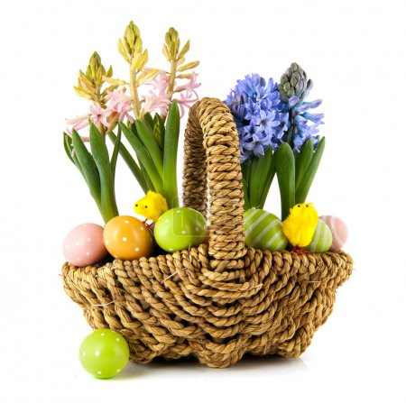 Easter spring basket