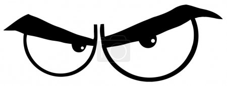 Black And White Pair Of Evil Eyes...