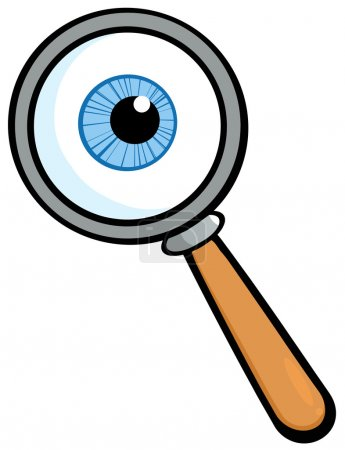 Magnifying Glass With Eye Ball