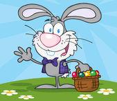 Sventolando il coniglio grigio