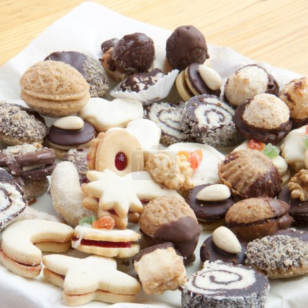 Photo for Assorted christmas cookies on the table - Royalty Free Image