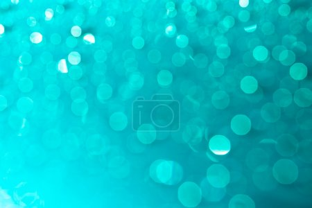 Turquoise christmas lights background
