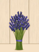 Lavender bunch on a wooden background