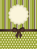 Vintage stationery background with flower cut out