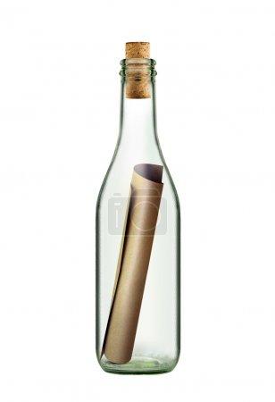Scroll message in bottle