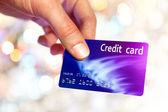 Man hand holding plastik credit card