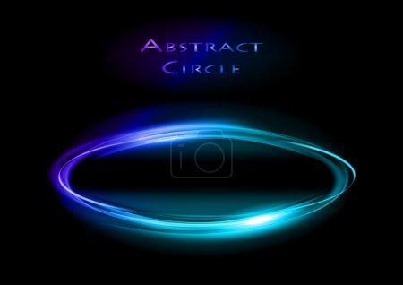 Illustration pour Cercle bleu sur le fond sombre - image libre de droit