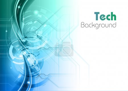 Photo for Blue and green tech background - Royalty Free Image