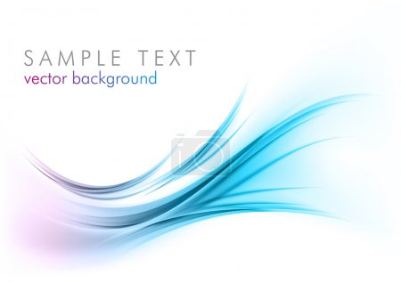 Illustration for Blue abstract elements on the white - Royalty Free Image