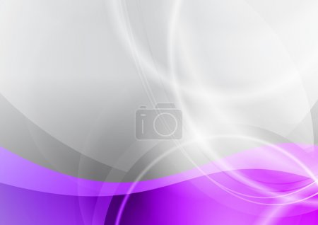 Illustration for Purple and grey wave abstract background - Royalty Free Image