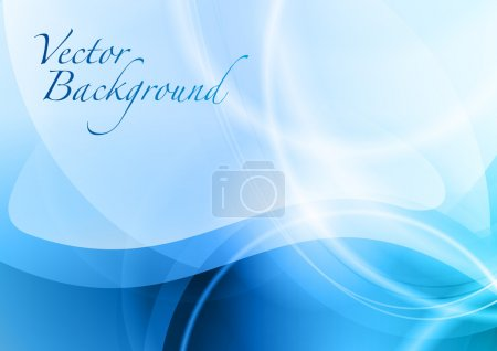 Illustration for Blue abstract background with the wave - Royalty Free Image