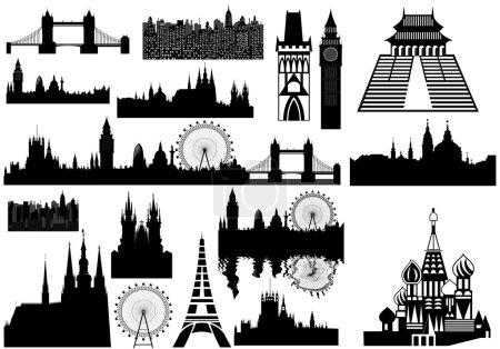World landmarks - vector