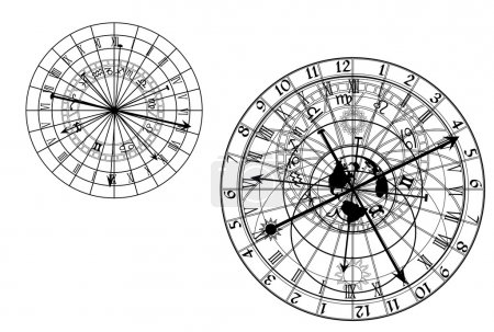 Astronomical clock - vector