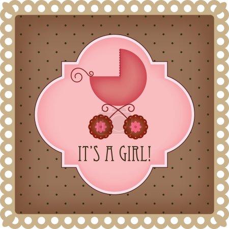 carte d'arrivée de bébé