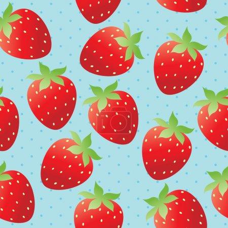 Illustration pour Fond d'écran fraise lumineux - image libre de droit