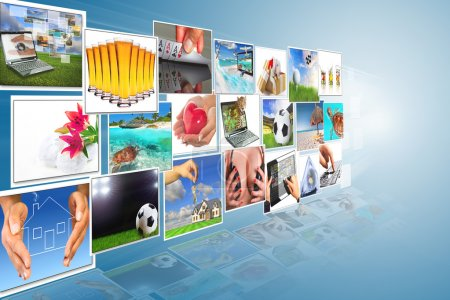 Photo for Streaming multimedia digital widescreen - Royalty Free Image