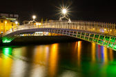The ha'penny bridge in Dublin