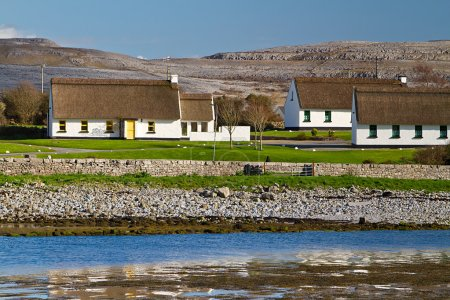 Irish cottage houses of Burren